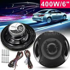 2Pcs 6'' 12V 400W 2-Way Car Door SubWoofer Coaxial Audio Stereo Horn Speaker New