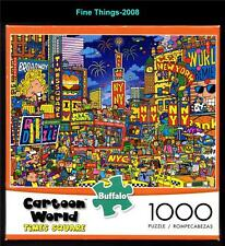 Cartoon World: Dave Garbot Times Square 1000 Piece Jigsaw Puzzle NIB