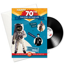 Happy 70th Story of Your Life 24 Page Booklet Greeting Card and Music Download