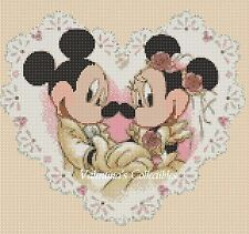 Counted Cross Stitch MICKEY AND MINNIE'S WEDDING - COMPLETE KIT  #10-16