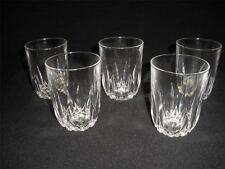 STUNNING 24% LEAD CRYSTALTUMBLERS X 5 -MADE IN FRANCE