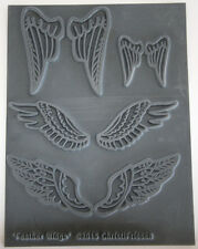 Feather Wings  Polymer clay texture stamps by Christi Friesen newest stamps