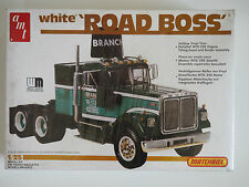 AMT 1:25 White Road Boss Truck camiones modelo Kit