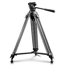 "Neewer 59""/150cm Aluminum Tripod with 360 Degree Pan Head for Video Camcorder"
