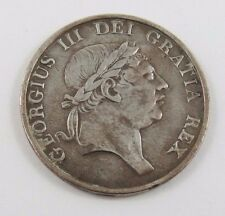 GREAT BRITAIN 3 SHILLING 1814 KING GEORGE III VF CONDITION STERLING SILVER.
