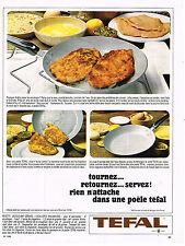 PUBLICITE ADVERTISING 084  1966  TEFAL  la poele qui n'attache pas