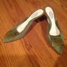 LULU GUINNESS LONDON SUEDE & LEATHER MULES SHOES SIZE:40