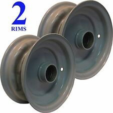 """TWO 8"""" 8x3.75 RIM WHEEL center shaft free rolling high speed trailer Implement"""