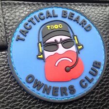 """TACTICAL BEARD OWNERS CLUB """"RED BEARD"""" 3D  AIRSOFT PVC RUBBER PATCH"""