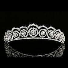 Bridal Floral Rhinestones Crystal Pageant Wedding Prom Crown Tiara 7977