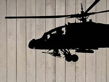 "Military Air Force USA Black Hawk Helicopter Wall Sticker Decal 44""h x 72""w"