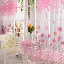 Valances Colors Floral Scarf Tulle Voile Door Window Curtain Drape Panel Sheer