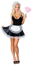 Sexy Adult Halloween Rubies Clean Sweep French Maid Costume Uniform Size Medium