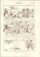 1893 René BULL Cartoon piccolo buco nel deserto