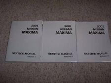 2001 Nissan Maxima Factory Shop Service Repair Manual Set GXE SE GLE 3.0L V6