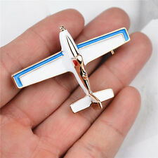Fashion Metal  Enamel Airplane Pin Brooch Gold Plated Alloy Badge Pin Gift