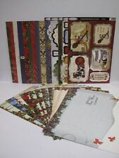 Crackerbox Mice Luxury Christmas A4 Foiled Card Die Cuts & Insert 50pcpk AM124