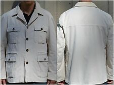 GUCCI JACKET BLAZER CORDUROY COAT SAFARI STYLE SHIRT IVORY Sz:54/XL MADE ITALY