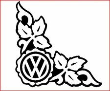 VW CAMPER SURF VAN T3 T4 T5 GOLF TRANSPORTER CORNER IVY WINDOW STICKER DECAL