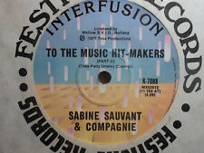 """Sabine Sauvant & Compagnie """"To The Music Hit-Makers"""" 7"""""""