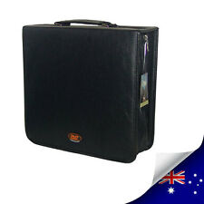 STYLE LEATHER 256 CDs & DVDs WALLET CASE HOLDS - BLACK