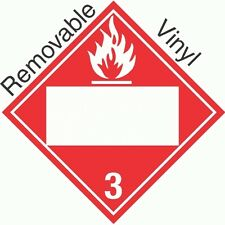 Blank Window Flammable Class 3 Removable Vinyl Placard (Pack of 50)