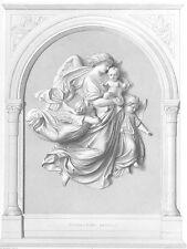 BABY JESUS & HEAVEN ANGELS VISIT KIDS at CHRISTMAS ~ 1852 Art Print Engraving
