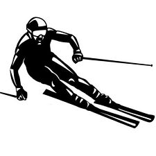 SKIER SPORTS  CAR DECAL STICKER