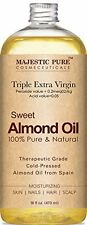Majestic Pure Sweet Almond Oil, Super Triple A Grade Quality, 100% Pure and