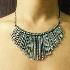 Women necklace spike style Black oxidized alloy imitation fashion jewellery