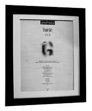 GARBAGE+STUPID GIRL+TOUR+POSTER+AD+RARE ORIGINAL 1996+ FRAMED+FAST GLOBAL SHIP