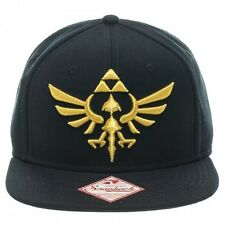 THE LEGEND OF ZELDA GOLD TRIFORCE SYMBOL BLACK SNAPBACK CAP (BRAND NEW)