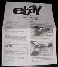 2001 Ebay Auction Game Instructions