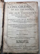 17th Century Antiquarian Book. Concordance of Old Testament 1627. Religion Bible