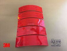5 X 200MM x 55mm RED Reflective Conspicuity Tape ECE104 3M Truck Lorry