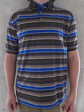 SEAN JOHN Tailored Fit Coffee Bean Brown and Blue Pull Over MEDIUM T Shirt NWT