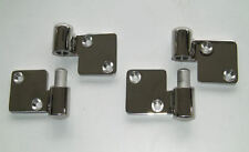 PAIR OF LIFT OFF HINGES IN POLISHED STAINLESS, HEAVY DUTY, LEFT HAND HUNG DOORS
