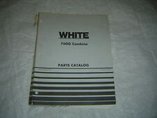 White 7600 combine parts catalog manual