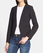 $395 NWT THEORY DELAVEN EDITION 2 BLACK WOOL BLEND JACKET SZ 00