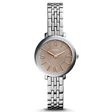 Brand New Fossil ES3846 Womens Jacqueline SS Rose Gold Analog Dial Dress Watch