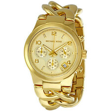Michael Kors Runway Twist Chronograph Gold-tone Ladies Watch MK3131