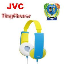 JVC Tiny Phones Childrens/Boys/Girls/Kids Yellow/Blue Headphones  HA-KD5-Y NEW