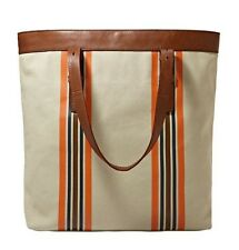 Fossil Estate CB Utility Bag Canvas/Genuine Leather Stone/Multi-Color