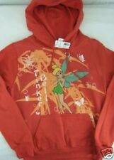 CUTE NEW RED TINKERBELL PULLOVER HOODY SWEATER DISNEY S