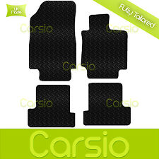 Black Fully Tailored Rubber Car Floor Mats For Renault Clio 2005 - 2009