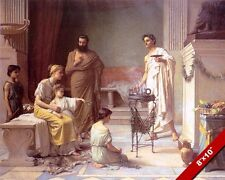 THE TEMPLE OF GREEK GOD OF MEDICINE AESCULAPIUS PAINTING ART REAL CANVAS PRINT