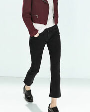 ZARA BLACK MINI FLARE JEANS SIZE EUR 34/USA 2/UK 6/IT 38 - BNWT