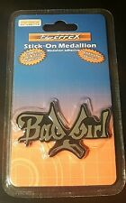 BAD GIRL stick-on medallion DECAL Emblem jewelry for your car Gag Gift