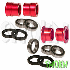 RFX Front & Rear Wheel Spacers Bearings & Seals Suzuki RMZ 250 450 07-16 Red