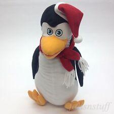 """Madagascar 3 Penguin with Santa Hat Christmas Plush Stuffed Toy Factory 14"""" xmas"""